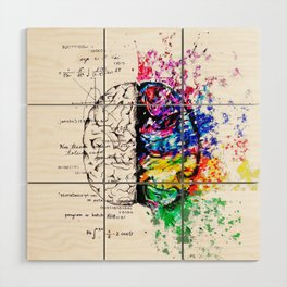 Conjoined Dichotomy Wood Wall Art