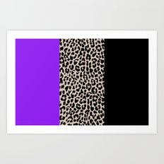 Leopard National Flag IX Art Print