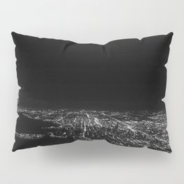 Chicago Skyline. Airplane. View From Plane. Chicago Nighttime. City Skyline. Jodilynpaintings Pillow Sham