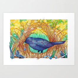 Blue Collector Art Print