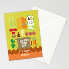 Lemongrass Chicken Soup Stationery Cards