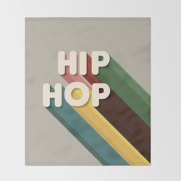 HIP HOP - typography Throw Blanket