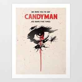 Candyman poster movie Art Print