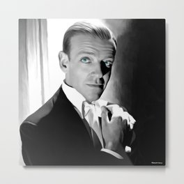 Fred Astaire Portrait Metal Print