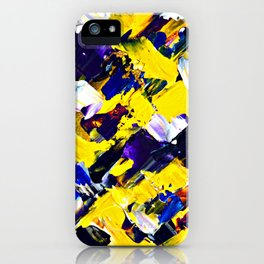 Yellow Intersections iPhone Case
