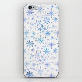 Let It Snow Winter Pattern iPhone Skin