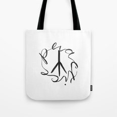 Practice Peace Tote Bag