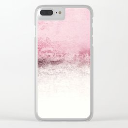 SNOWDREAMER PINK  Clear iPhone Case
