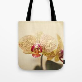 Yellow Spotted Orchid Tote Bag