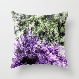 Hidden Faces Throw Pillow