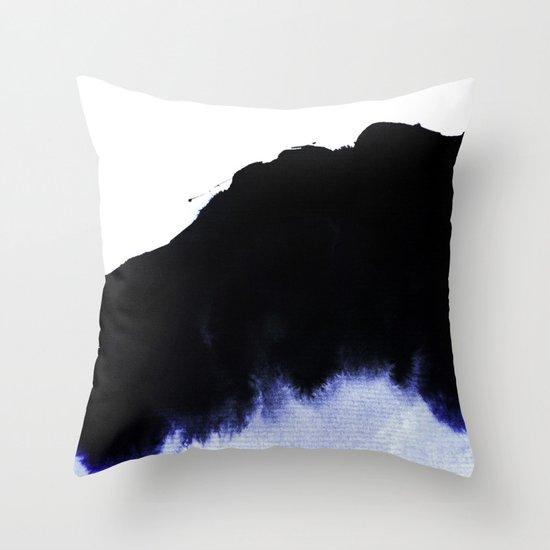 black & blue Throw Pillow