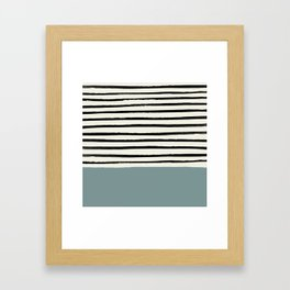 River Stone & Stripes Framed Art Print