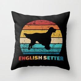 English Setter vintage Throw Pillow