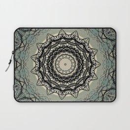 Tree Lace Black Cream Blue Pattern Kaleidoscope A541pt1 Laptop Sleeve