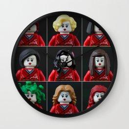 Personalities of a Geisha Wall Clock