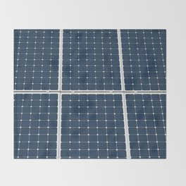 Solar Cell Panel Throw Blanket