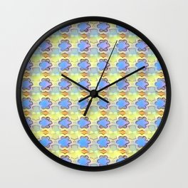Violets in Sunlight Wall Clock