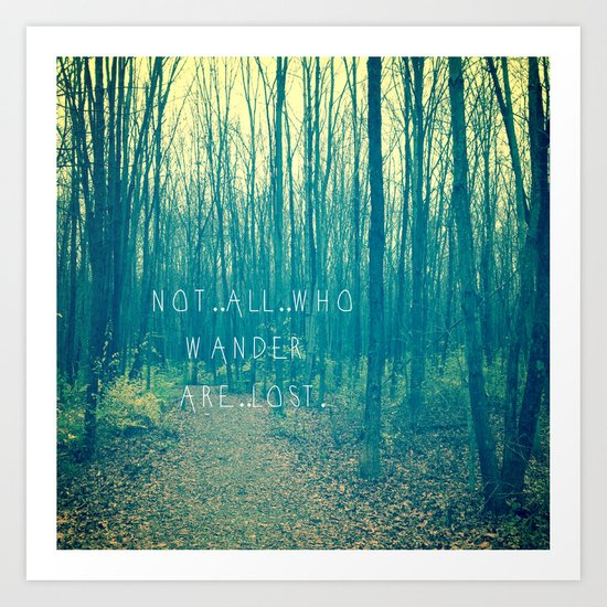 Wander in the Woods Art Print