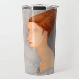 "Amedeo Modigliani ""Portrait of Jeanne Hébuterne"" Travel Mug"