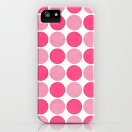 the pink dots iPhone Case