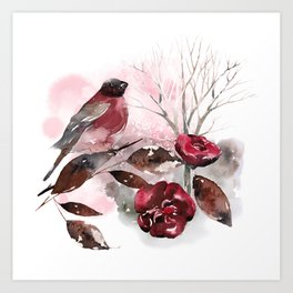 Spring Rests In The Heart Of Winter Art Print