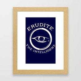 Divergent - Erudite The Intelligent Framed Art Print