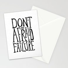 Don't be afraid of failure Stationery Cards