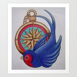 Stop off in the Nautical Art Print