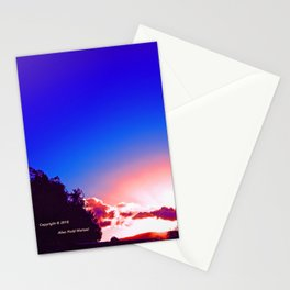 """""""Day's End  #273"""" with poem: Passing Days Stationery Cards"""