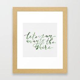 Let's run away (green) Framed Art Print