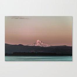 Pastel Peak - Mt. Hood over the Columbia Canvas Print