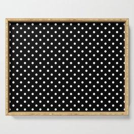 Black & White Polka Dot Pattern Serving Tray