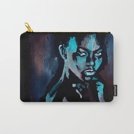 Woman in Dark Room Carry-All Pouch