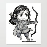 kili Canvas Prints featuring Kili Chibi by KuroCyou