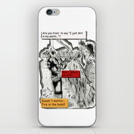 Dead-Pool goin' back in time & reality 3D iPhone Skin