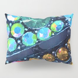 Blue, Green and Gold Jewels Art Design Pillow Sham