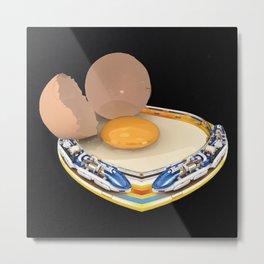 Egg Trains Metal Print