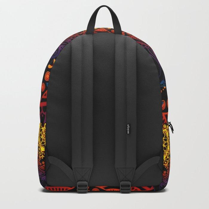 'Bohemian Summer' Multi-Coloured Mandala Backpack