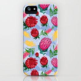 Pretty Australian Native Floral Pattern iPhone Case
