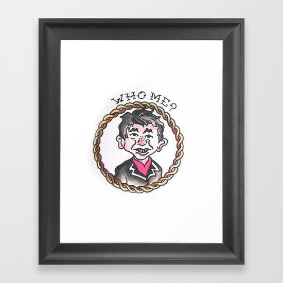 Who Me ? Framed Art Print