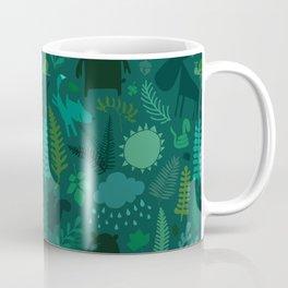 PNW Forest in Emerald Green Coffee Mug