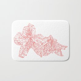 azalea drawing, red Bath Mat