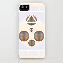 Monkey Head: Circle & Triangle iPhone Case