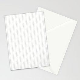 Creamy Tofu White Mattress Ticking Wide Striped Pattern - Fall Fashion 2018 Stationery Cards
