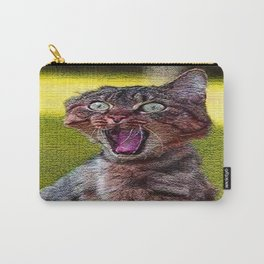 funny cat shocked Carry-All Pouch