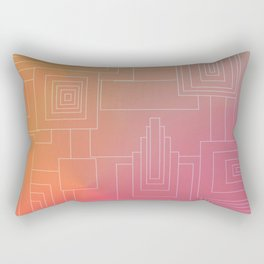 Art Deco sunset Rectangular Pillow