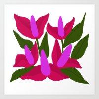 Purple Pink Marvels Art Print