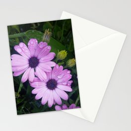 Purple Flowers on a Rainy Day Stationery Cards
