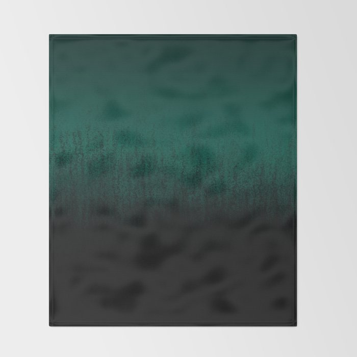 Emerald Ombré Throw Blanket