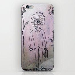 flower man iPhone Skin